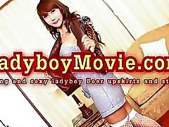 Thai Ladyboy Beer Upskirts And Strips
