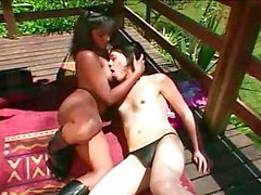Latina Tranny Pounding Girl Outdoor