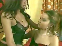 Passionate fuck between cute ladyboy and chick