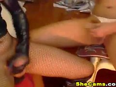 Shemale Couple flaunting their asses live on cam