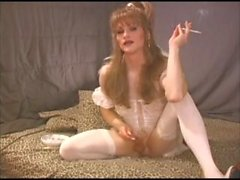 Beautiful TGirl Heather Smokes & Strokes
