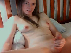 Hot Shemale Explodes her Big Load in her Belly