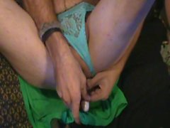 Anal play while wearing gfs thong and playing with her vibrator.