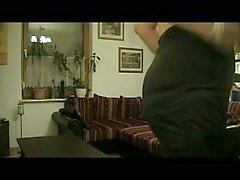Denise Satin masturbates in sexy black dress