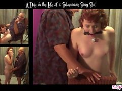 Used & Abused Smoking Fetish Tranny Slut Endures Spanking & Humiliation