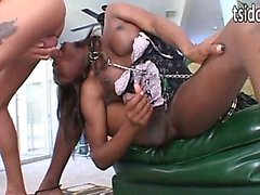 Amyiaa Starr gets a collar on and blows
