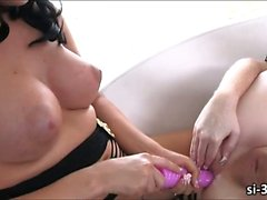 Tgirl hotties Bailey Jay and Juliette Stray enjoys hot fuck