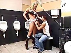 Filthy Toilet Fucking With A Strap-On