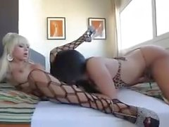 Melody and Bianka play with sex toys