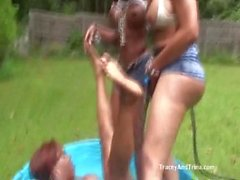Tracey Trina and Tristin Get Wet