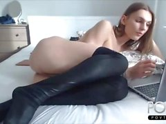 Sexy stockings tranny Sasha anal play