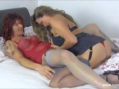Sexy Milf anal toys hot tranny slut and teases her big cock to explode over her big tits