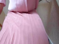 My pink pleated skirt