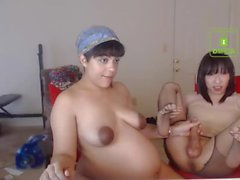 pregnant lesbian butch gives her tgirl husband hj and bj
