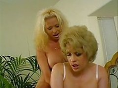 Shemale & Girl Stuffing Each Others