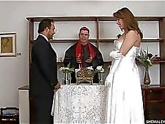 Red hot shemale bride