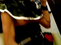 Kinky T Girl Rubber Nun Drinks Her Own Spunk