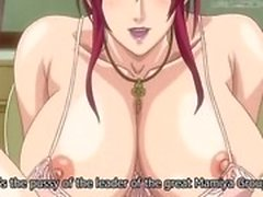 Dickgirl fucks a submissive hentai babe