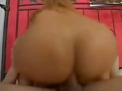 Big Breasted Beauty shemale Gets Bent Over And Fucked