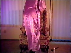 Satin Robe and Slip smoking and stroking 3