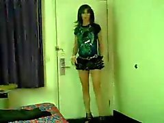 Crossdresser in motel