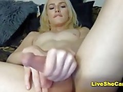 Sexy blonde shemale hot camshow