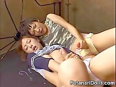 Futanari Teens Huge Cumshots!