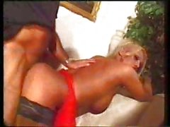 Gorgeous vintage blonde TS fucked
