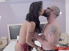 Latina tgirl cum sprayed