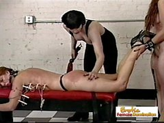Dominant Shemale Hurts Her Slave Really Hard
