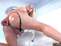 Busty Shemale Holly Sweet Makes Herself Cum